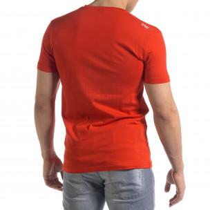 Ανδρική κόκκινη κοντομάνικη μπλούζα SAW  2