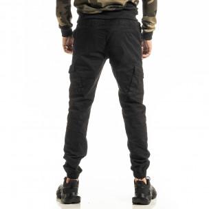 Ανδρικό μαύρο παντελόνι Cargo Jogger 2