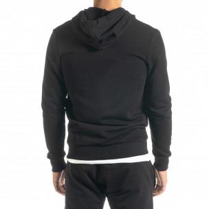 Ανδρικό μαύρο φούτερ Basic 2