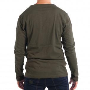 Ανδρική πράσινη μπλούζα με τσέπη RESERVED  2