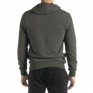 Ανδρικό πράσινο φούτερ Basic 2