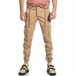 Ανδρικό μπεζ παντελόνι cargo Blackzi