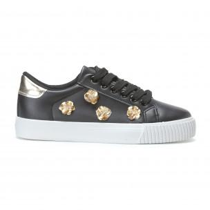 Γυναικεία μαύρα sneakers Exma