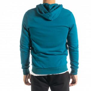 Ανδρικό γαλάζιο φούτερ Basic 2