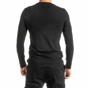 Ανδρική μαύρη μπλούζα Jeans Sport 2