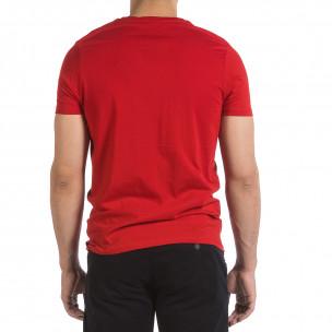 Ανδρική κόκκινη κοντομάνικη μπλούζα Hey Boy  2