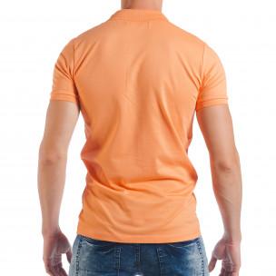 Ανδρική κοντομάνικη πόλο σε πορτοκαλί χρώμα  2