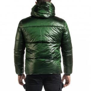 Ανδρικό πράσινο χειμωνιάτικο μπουφάν Duca Homme  2