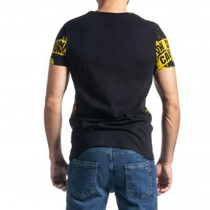 Ανδρική μαύρη κοντομάνικη μπλούζα Lagos Lagos 2