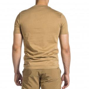 Ανδρική μπεζ κοντομάνικη μπλούζα Breezy Breezy 2