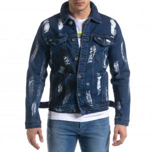 Ανδρικό μπλε ανοιξιάτικο-φθινοπωρινό μπουφάν Ossy