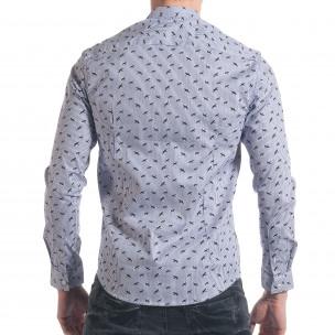 Ανδρικό γαλάζιο πουκάμισο Furia Rossa  2
