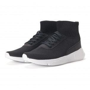 Ανδρικά μαύρα αθλητικά παπούτσια κάλτσα 2