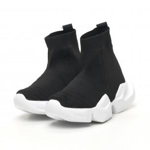 Γυναικεία μαύρα ψηλά sneakers  Keceli  2