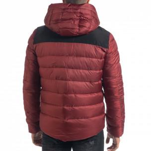 Ανδρικό κόκκινο πουπουλένιο μπουφάν   2
