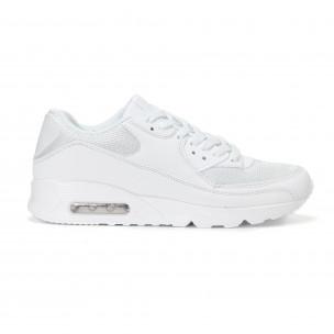 Ανδρικά λευκά αθλητικά παπούτσια με σόλες αέρα