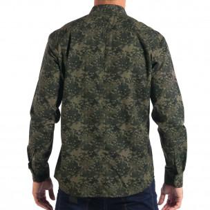 Ανδρικό πράσινο πουκάμισο παραλλαγής RESERVED  2