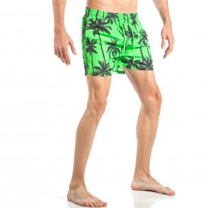 Ανδρικό πράσινο μαγιό  με φοίνικες 2