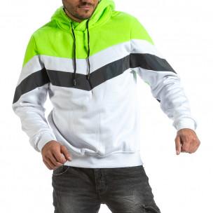 Ανδρικό λευκό φούτερ X-Feel