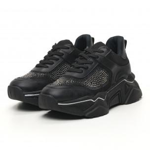 Γυναικεία μαύρα sneakers Seribo 2