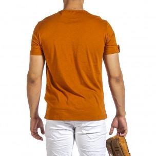 Ανδρική camel κοντομάνικη μπλούζα Made in Italy 2