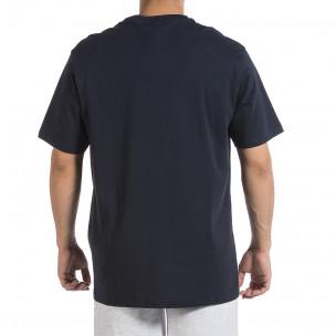 Ανδρική σκούρο μπλε κοντομάνικη μπλούζα Givova 2