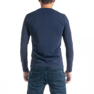 Ανδρική γαλάζια μπλούζα Jeans Sport 2