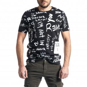 Ανδρική μαύρη κοντομάνικη μπλούζα Lagos Lagos