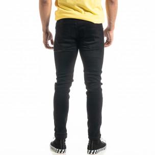 Ανδρικό μαύρο τζιν Slim fit Basic  2