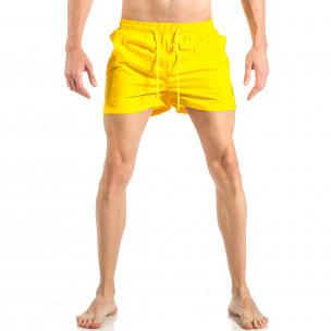 Ανδρικό κίτρινο μαγιό με ρίγες σε τρία χρώματα