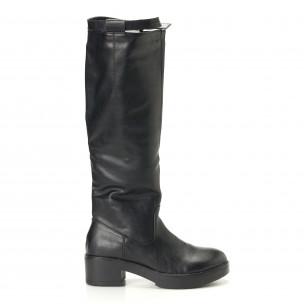 Γυναικείες μαύρες μπότες Martin Pescatore
