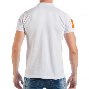 Ανδρική λευκή πόλο με το νούμερο 32  2