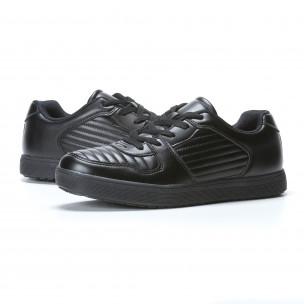 Ανδρικά μαύρα sneakers Flair  2