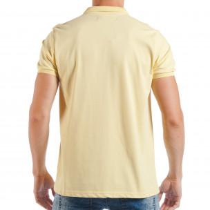 Ανδρική κίτρινη πόλο basic μοντέλο  2