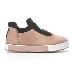 Γυναικεία ροζ sneakers Ideal Shoes
