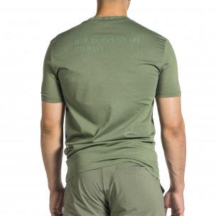 Ανδρική πράσινη κοντομάνικη μπλούζα Breezy Breezy 2