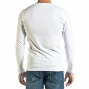 Ανδρική λευκή μπλούζα Panda Skull 2