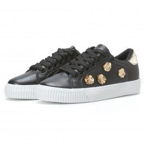 Γυναικεία μαύρα sneakers Exma  2