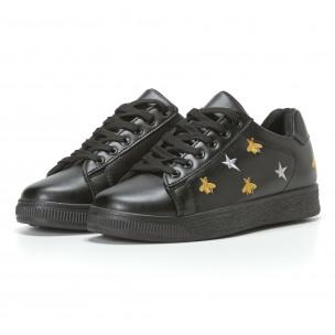 Γυναικεία μαύρα sneakers Dilen 2