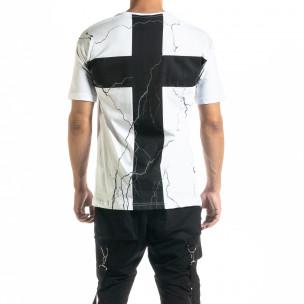Ανδρική λευκή κοντομάνικη μπλούζα Black Island Black Island 2