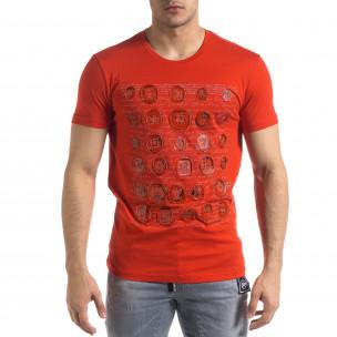 Ανδρική κόκκινη κοντομάνικη μπλούζα SAW