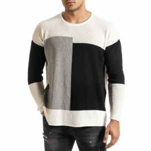 Ανδρικό λευκό πουλόβερ Lagos