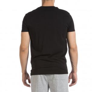 Ανδρική μαύρη κοντομάνικη μπλούζα Sweet Years  2