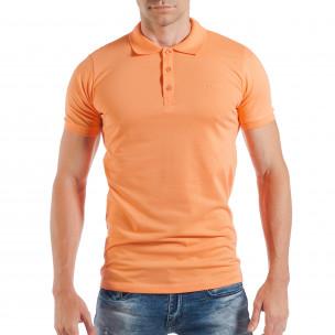 Ανδρική κοντομάνικη πόλο σε πορτοκαλί χρώμα