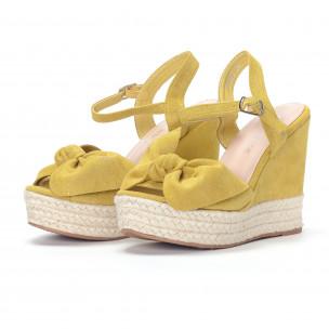Γυναικείες κίτρινες πλατφόρμες  2