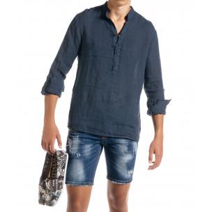 Ανδρικό γαλάζιο πουκάμισο Duca Homme