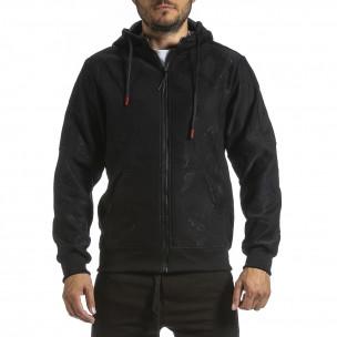 Ανδρικό μαύρο φούτερ X-Feel