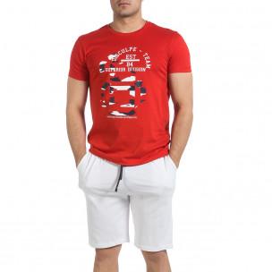 Ανδρικό κόκκινο αθλητική φόρμα Disculpe