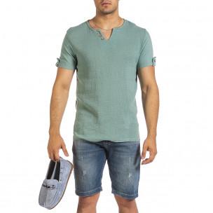Ανδρική πράσινη κοντομάνικη μπλούζα Made in Italy