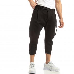 22d7dd725e5a Cropped ανδρικό μαύρο παντελόνι ...